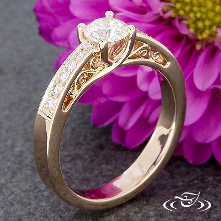 Trellis Engagemennt With Diamond Accents