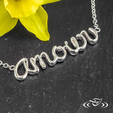 SILVER AMOUR PENDANT