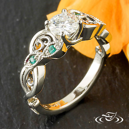 Curls And Swirls Freeform Engagement Ring