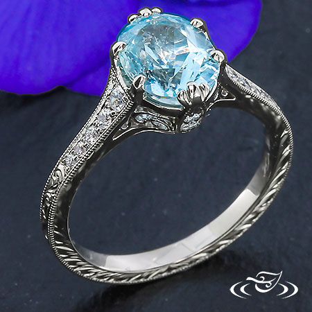 Oval Topaz Engagement Ring