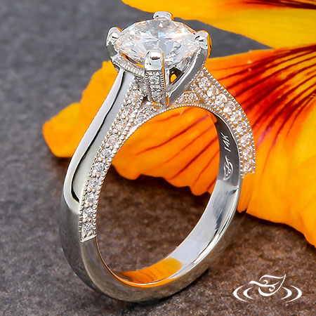 CLASSIC SOLITAIRE WITH DIAMOND ACCENTS