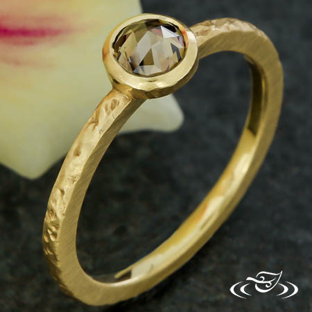 STACKABLE DIAMOND BEZEL RING