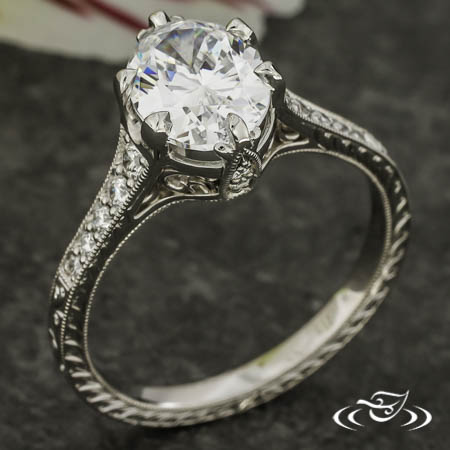 Platinum Antique Style Engagement