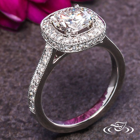 PLATINUM TIERED DIAMOND HALO