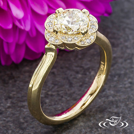 Scalloped Gold Blossom Halo