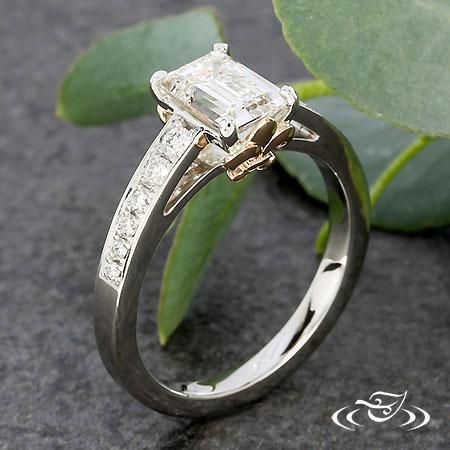 Fleur De Lis Engagement Ring