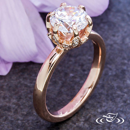 ROSE GOLD BLOSSOM SOLITAIRE