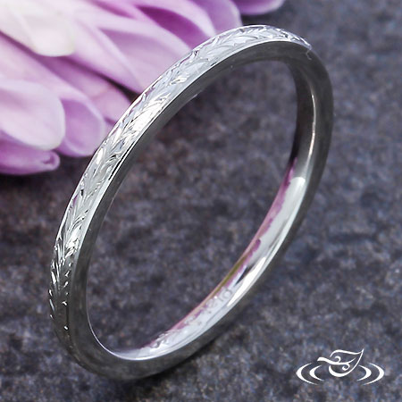 FINE ENGRAVED WHEAT BAND