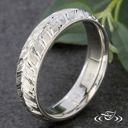 PALLADIUM ENGRAVED BAND