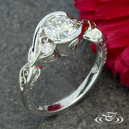 FILIGREE WRAP ENGAGEMENT RING