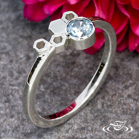 HONEYCOMB ENGAGEMENT RING