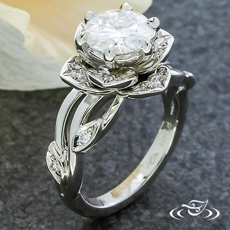 Wavy Vine Lotus Ring