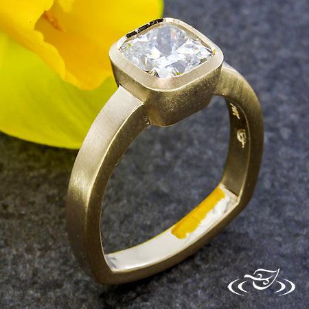 MODERN BEZEL SET DIAMOND RING