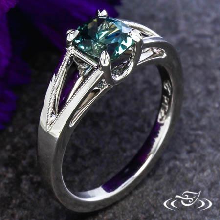 Classic Montana Sapphire Engagement Ring
