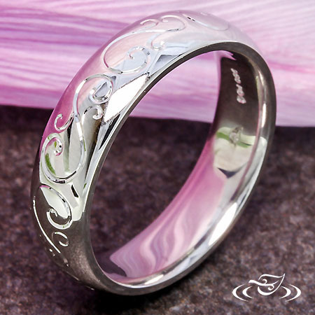 FLOWING SWIRL ENGRAVED BAND