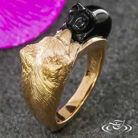 CUSTOM 18K ROSE GOLD SURPRISE ANNIVERSARY RING