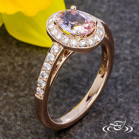 ROSE PINK SAPPHIRE HALO