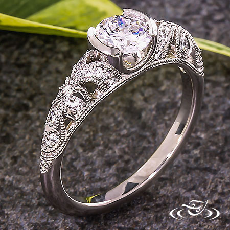 PIERCED ANTIQUE DIAMOND ENGAGEMENT RING
