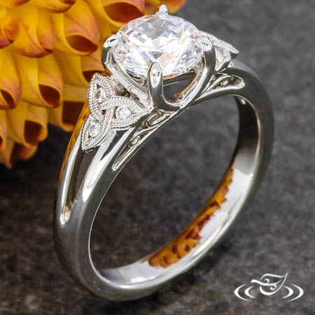 CELTIC KNOT & FILIGREE ENGAGEMENT RING