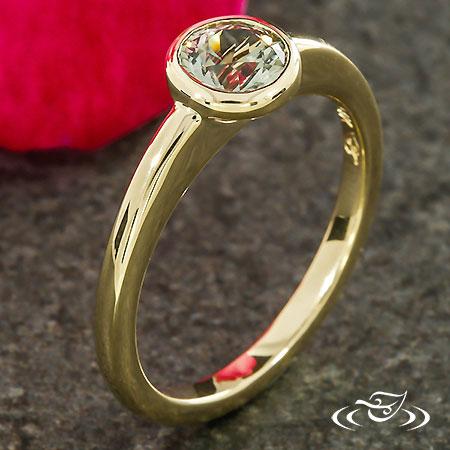 Modern Montana Sapphire Engagement Ring
