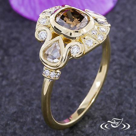 Custom Art Deco Inspired Antique Ring