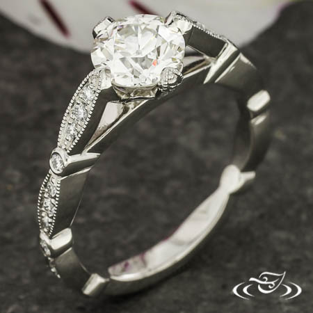 SCALLED EDGE ENGAGEMENT RING