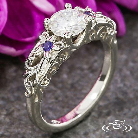 FLORAL ENGAGMENT RING