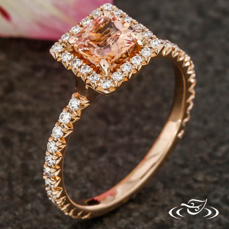 GORGEOUS PEACH SAPPHIRE IN ROSE GOLD