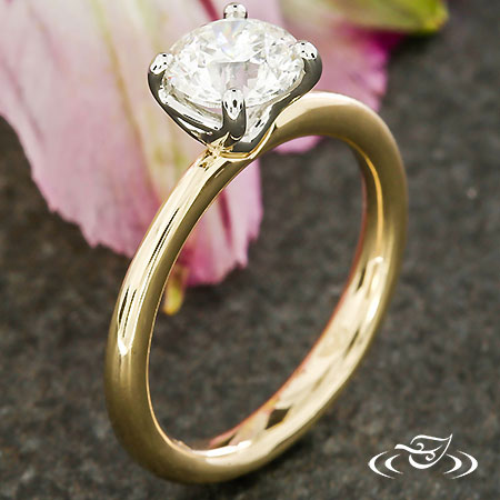 TWO TONE CONTEMPORARY SOLITAIRE