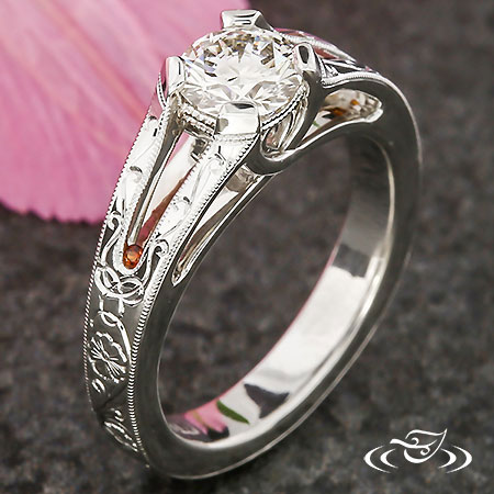 CROSSING HEART TRELLIS ENGAGEMENT RING