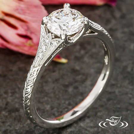 WHEAT ENGRAVED ENGAGEMENT RING