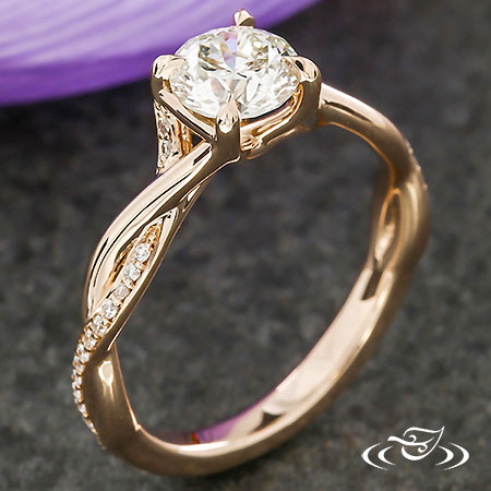 ROSE GOLD TWIST ENGAGEMENT RING