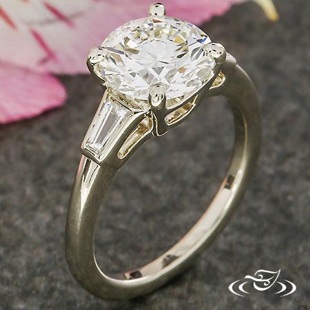 Baguette Accent Engagement Ring