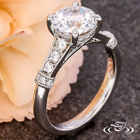 PLATINUM TRELLIS ENGAGEMENT RING