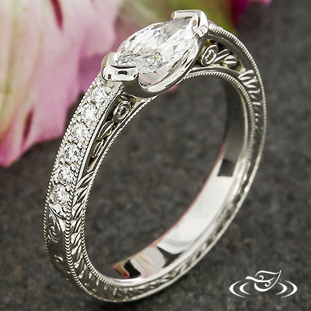 ANTIQUE MARQUISE ENGAGEMENT RING
