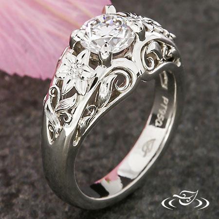 DIAMOND GARDEN ENGAGEMENT RING