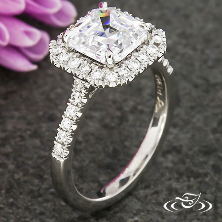 PLATINUM ASSCHER ENGAGEMENT RING