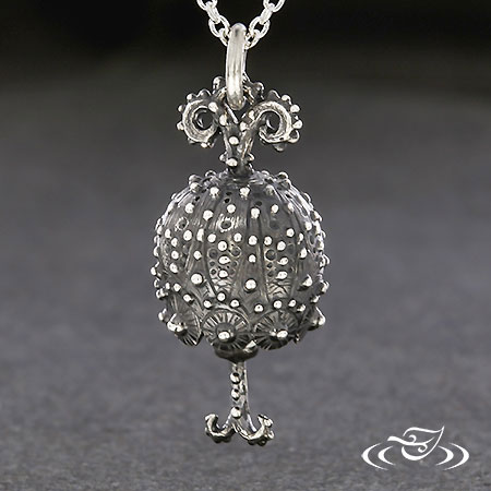 HAND CARVED SILVER BELL