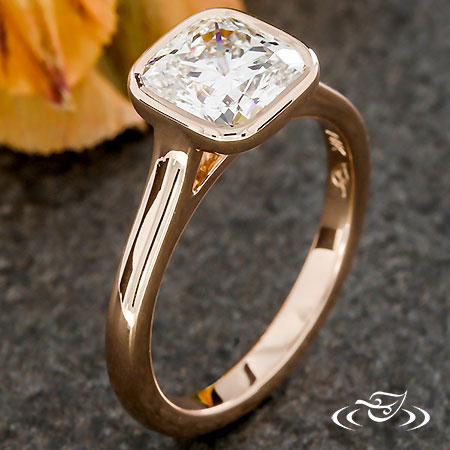 ROSE GOLD BEZEL ENGAGEMENT RING