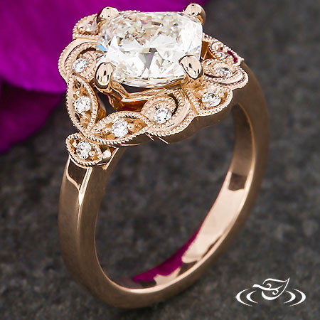 Delicate Kite Set Solitaire Diamond Stacking Ring