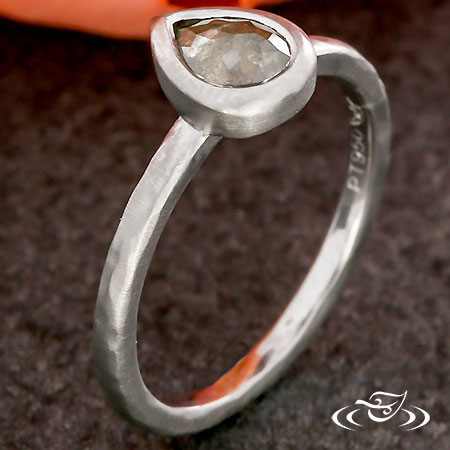 RUSTIC BEZEL DIAMOND RING