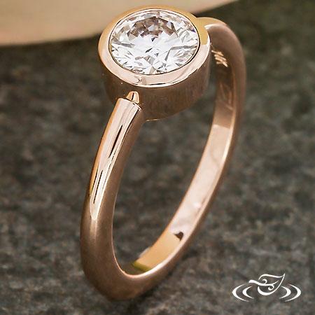 MODERN BEZEL DIAMOND SOLITAIRE