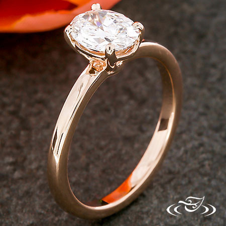 ROSE GOLD OVAL SOLITAIRE