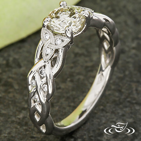 TRINITY KNOT & CELTIC BRAID ENGAGEMENT RING