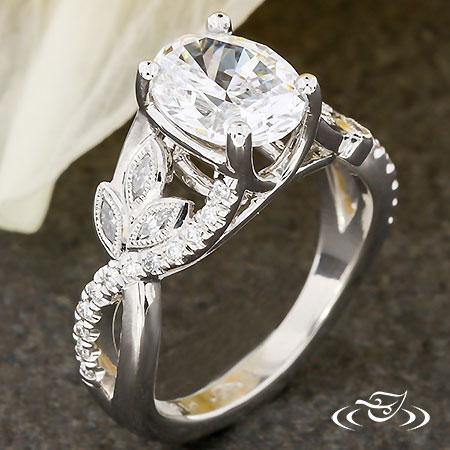 Vine And Leaf Engagement Ring