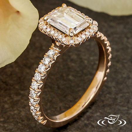 FINE FRENCH SET DIAMOND HALO