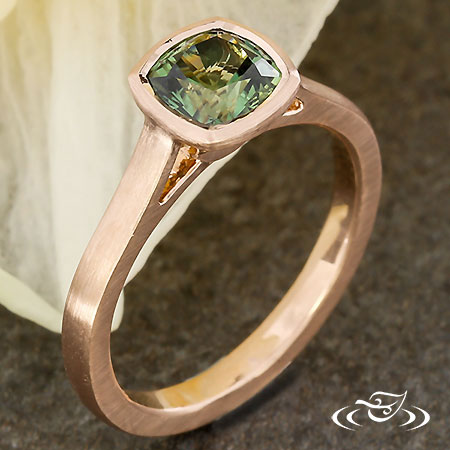 ROSE GOLD MONTANA SAPPHIRE ENGAGEMENT RING
