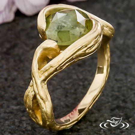 Rustic Branch Montana Sapphire Ring
