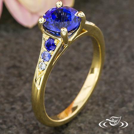 OMBRÉ BLUE SAPPHIRE ENGAGEMENT RING
