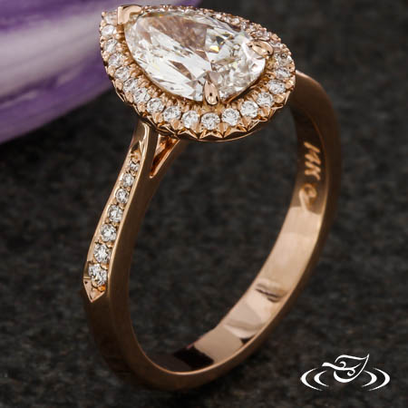 PEAR DIAMOND HALO ENGAGEMENT RING